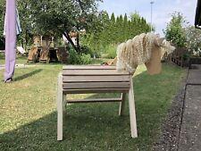 Holzpony bew Aufstiegshilfe Ohren Voltigierpferd Stockmaß 110 cm Holzpferd