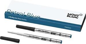 Montblanc 2 Ballpoint Pen Refills (M), Petrol Blue - 119604