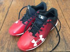 Under Armour Red Baseball Cleats Shoes size 3Y