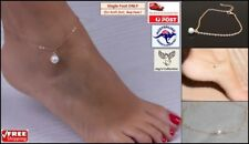 Fashion Gold Color Chain Imitation Pearl Ankle Bracelet Foot Jewelry [A8K~B33]