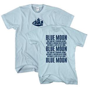 Blue Moon Manchester Ship T Shirt - Football Supporter Gift Idea