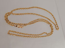 """Nice Solid 14k Italy Yellow Gold Rope Chain Necklace 28"""" long 2.8mm wide 13.2g"""
