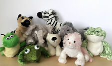 9 Ganz Webkinz Plush Stuffed Animal Kids Toys Frog Cat Elephant Zebra Polar Bear
