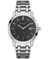 Bulova Men's Classic Watch Quartz 96B223 Silver Stainless Steel Stylish