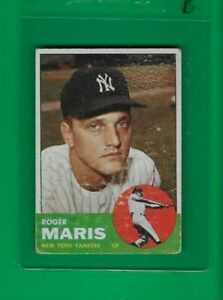1963 Topps Roger Maris New York Yankees  #120  ⭐️👀⭐️  VG