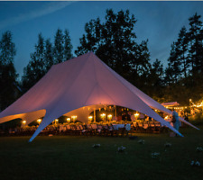 Commercial Wedding Event Graduation Yard Patio Party Triple Star Stretch Tent