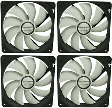 4 x GELID Solutions Silent 14 PWM 140mm Case Fans 1200 RPM, 126.65 CFM, 25.1 dBA
