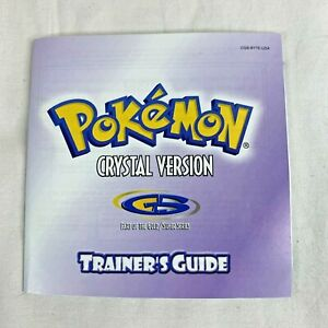 Game Boy Color Pokemon Crystal Version Trainer's Guide Only
