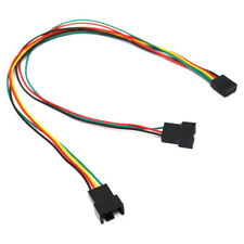 4 Pin PWM Y Splitter Dual Adapter Computer PC Case Cooling Fan Adapter Cable,12