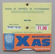 DISQUE DE CONTROLE DE STATIONNEMENT MICHELIN XAS ASYMETRIQUE *