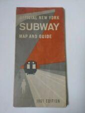 NYC SUBWAY MAP 1961
