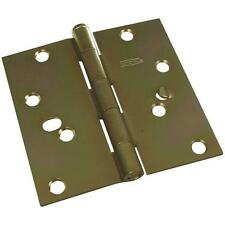 """30 Pk Steel Brass Finish 4"""" Square Removable Pin Security Door Hinge N240259"""