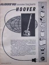 PUBLICITÉ DE PRESSE 1960 HOOVER APPAREIL MÉNAGER D'EXCELLENCE - ADVERTISING