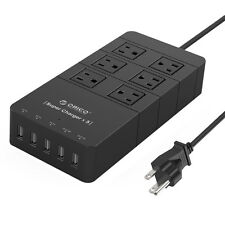 6 AC Outlet Surge Protector Power Strip Socket with 5 USB Charging Ports for HTC