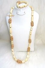 PrestigeApplause Men White Coral with Gold Accessories Beads Groom Wedding Party