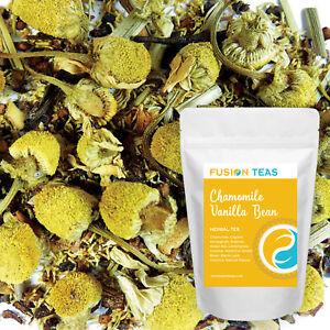 Chamomile Vanilla Bean Herbal Tea - Premium Loose Leaf Blend - Fusion Teas