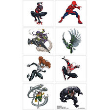 Spiderman Tattoos - Birthday Party Supplies - Favours Loot Ideas - Spider-Man