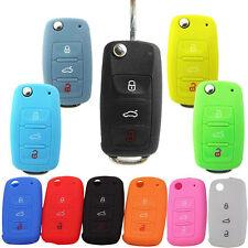 Car Key Bag Key Cover Silicone Portect Case For Volkswagen Skoda Series