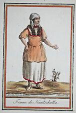 FEMME KAMTSCHATKA Russie COSTUME Eau Forte Gravure GRASSET SAINT SAUVEUR 1797