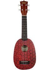 Kala Pineapple Soprano Ukulele, Mahogany Body, Geared Tuners, Aquila, KA-PSS