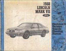 1988 lincoln mark vii electrical troubleshooting manual original oem mk 7  vacuum