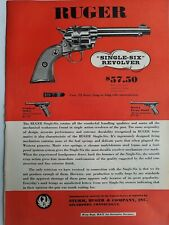 1954 Sturm Ruger & Co single six revolver gun full page color vintage ad