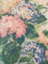 "Waverly Valance Floral 74""Wx16""L Cream Pink Blue"