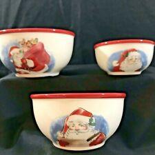 Dip  Serving Bowl New Set St Nicholas Square Christmas Traditions Set Of Three