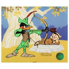 "Chuck Jones ""Bow and Error"" SN-LE CEL Daffy Duck Looney Tunes Porky Pig w/ COA"