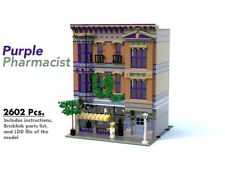 Lego Custom Modular Building [Purple Pharmacist] INSTRUCTIONS ONLY