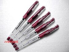 5 x Uni-Ball Signo UM-151 0.38mm Point Gel Ink Rollerball pens, Bordeaux Black