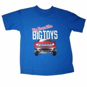 Big Boys Like Big Toys Toddler T-Shirt - Ford Raptor Design - Free USA Shipping!
