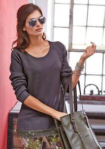 Pullover mit Spitze, Aniston. Mauve. NEU!!! KP 49,99 € %SALE%