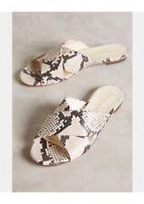 Anthropologie Bettye Muller Snake Slides Sandals Retails $198.00 EU 37 US 7