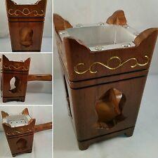 Handmade Wooden Tarim Tarimi Yemen Yemeni Mabkhara Charcoal Incense Burner