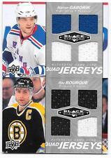 2010-11 Black Diamond Quad Jerseys Ray Bourque, QJ-RB, 2 colors, Bruins