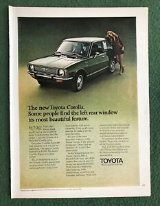 Vintage 1980s magazine ad TOYOTA Corolla car auto garage mancave