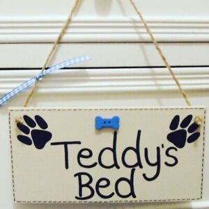 Handmade Personalised Pet Dog Plaque Sign Any Pet Name House Kennel Home Gift