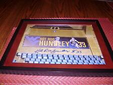 Hot Rod Hundley West Virginia Signed 11x14 Framed Photo HOF Los Angeles Lakers