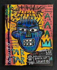 Jean Michel Basquiat Large Painting  Samo Rare