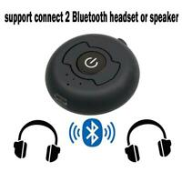 2 in 1 Multi-point Bluetooth Transmitter 3.5mm AUX Stereo Wireless Music T1Y5