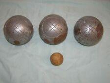 3 Boules de pétanque striées Obut Match: triplette + cochonnet, 730g, D 74cm