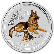 2018 Australia Lunar Dog Color Silver Coin ~1/4 oz ~~  Perth Mint