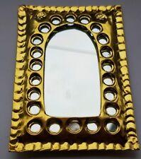 Moroccan hand crafted beaten brass mirror SMALL ( design 4 )