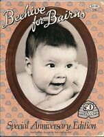 Beehive for Bairns Baby Knitting Crochet 23 Patterns Vintage Pattern Reprint