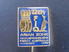 12th Asian Zone Championships Perth Ten Pin Bowls Badge