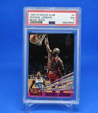 1993 Stadium Club Beam Team Michael Jordan 4 PSA 7