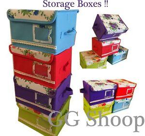 Beautiful Storage Box Folding Canvas Jewellery Box Cloth Storage Box Toy Book