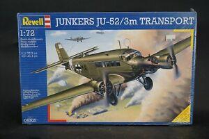 Revell Junkers JU-52/3m Transport 1:72 Scale Model Kit