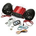 DC 12V Sound System SD USB MP3 Motorcycle Audio Remote Control Stereo 2 Speakers